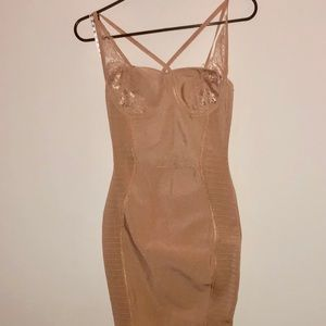 Bandage missguided midi dress size 0